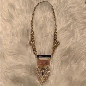 BaubleBar Long Gold Statement Necklace